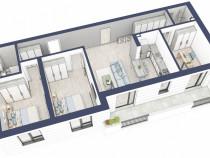 Apartament 4 camere/Surii Mici/ incalzire in pardoseala