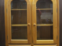 Dulap suspendat lemn masiv cu 2 usi; Corp de perete cu serta