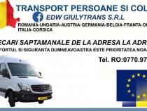 Transport Persoane si auto pe platforma International