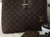 Set Louis Vuitton 3 articole/geanta+adidasi+portofel