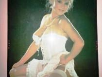 Tablou plastic/plexiglas cu samantha fox 65x100cm din 1982