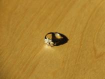 Inel din argint foarte vechi, model floral