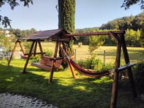 Leagane si balansoare rustice cu extensii pentru hamac