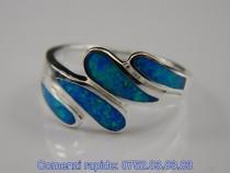 Inel argint rodiat, aspect aur alb, opal albastru: IN484901