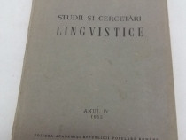 Studii și cercetări lingvistice/ anul iv/ 1953