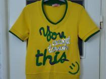 Tricou dama / fete galben cu model marimea M - Nou