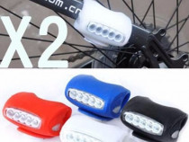 Nou > 7 led lumini / far / lanterna /stop bicicleta - 500m