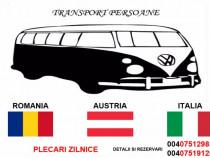 Transport persoane, colete, masini Romania-Austria-Italia