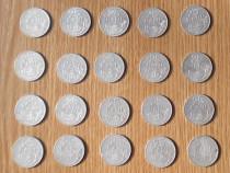Lot 20 monede 25 bani 1982 (aluminiu)