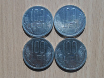 Lot 4 monede 100 lei 1994
