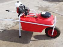 Pulverizator-aparat erbicidat tip roabă cu motor pe benzină