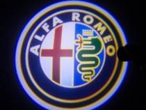 Leduri laser logo holograma usi Alfa Romeo