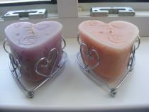 Lumânari decorative - in forma de inima + o cana bonus