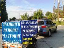 Inchirieri Remorca/ Platforma/ Trailer/ Transport Auto/Marfa