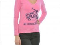 Bluza biker style roz + cadou surpriza