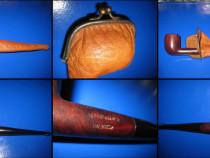 Pipa veche din lemn cu etui original marca Bruyere Garante