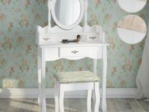 SEA26 - Masuta Alba toaleta, Sertar, Scaun, oglinda machiaj