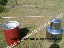 Cazan pt tuica,Inox.60 de litri+Serpentina+Teava de leg.+Vas