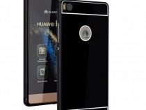 Husa Bumper Aluminiu Metalic Huawei P9 Lite Black Fullcover