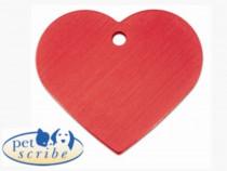 Medalion Inima Mare Pet Scribe Rosu