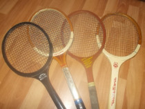Rachete tenis de colectie, din lemn