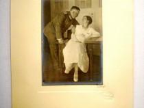 4636-I-WW2-Ofiter german cu sotia- fotografie de nunta.