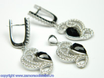 Set bijuterii argint rodiat Model ST309499