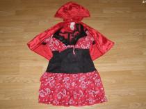 Costum carnaval serbare scufita rosie pentru adulti marime S