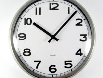 Ceas de perete silentios - rama din inox – mare- 32 cm – Nou