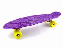 Penny board - skateboard - pennyboard – mov cu galben - nou