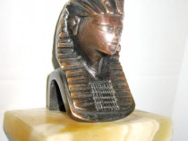 7201-Statuieta vintage mica-Faraon bronz soclul granit.