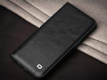 Husa piele fina Qialino, Samsung S7 Edge, magnetica, neagra