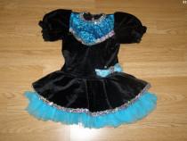 Costum carnaval serbare rochie dans pentru copii 4-5-6 ani