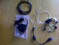 Accesori nokia n95 incarcator nou, cablu de date,casti