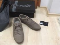 Pantofi piele interior-exterior,Demalis,bej, 42,noi