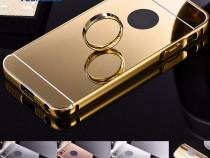 Iphone 5 5S SE - Bumper Aluminiu 0.5mm Capac Plastic Oglinda
