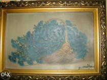 2 Picturi ulei/carton, din anul 1941,semnate de N.Ignatoiu