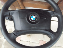 Volan + airbag +maneta semnalizare +contact bmw e