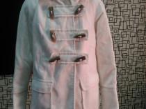 Palton stofa alb fetite