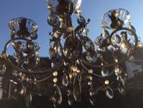 Candelabru cristale fumurii