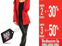 Black friday!-40%la tot(peste400produse)geacă roşie cu blană