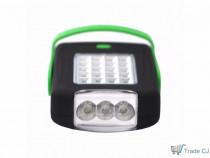 Lanterna 23 leduri portabila picior magnetic carlig 2 moduri