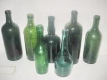 7 Sticle Farmacie-Alcool verzi vechi st. buna fara dop.