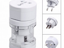 Adaptor priza universal world travel eu-uk-usa-aus nou