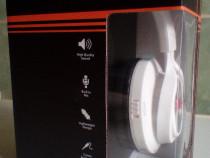 Casti audio bluetooth model CHBT-612 culoare alb (nou)