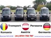 Zilnic transport persoane Arad Romania Austria Germania