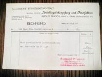 Act vechi-Rechnung August Prasch-1947 Wien. Combatere daunat