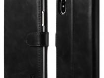 Husa piele 2in1 icarer iphone x tip carte + back cover,negru