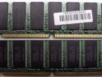 Kit Rami SDRAM 1 Gb (2x512)-Memorie PC RAM 1 Gb SDRAM PC-133