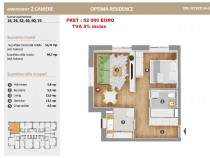 Apartament 2 camere ideal pt familie, 45 mp Optima Pallady